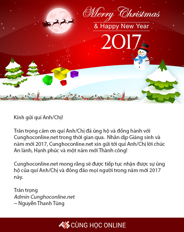 Email chúc mừng năm mới