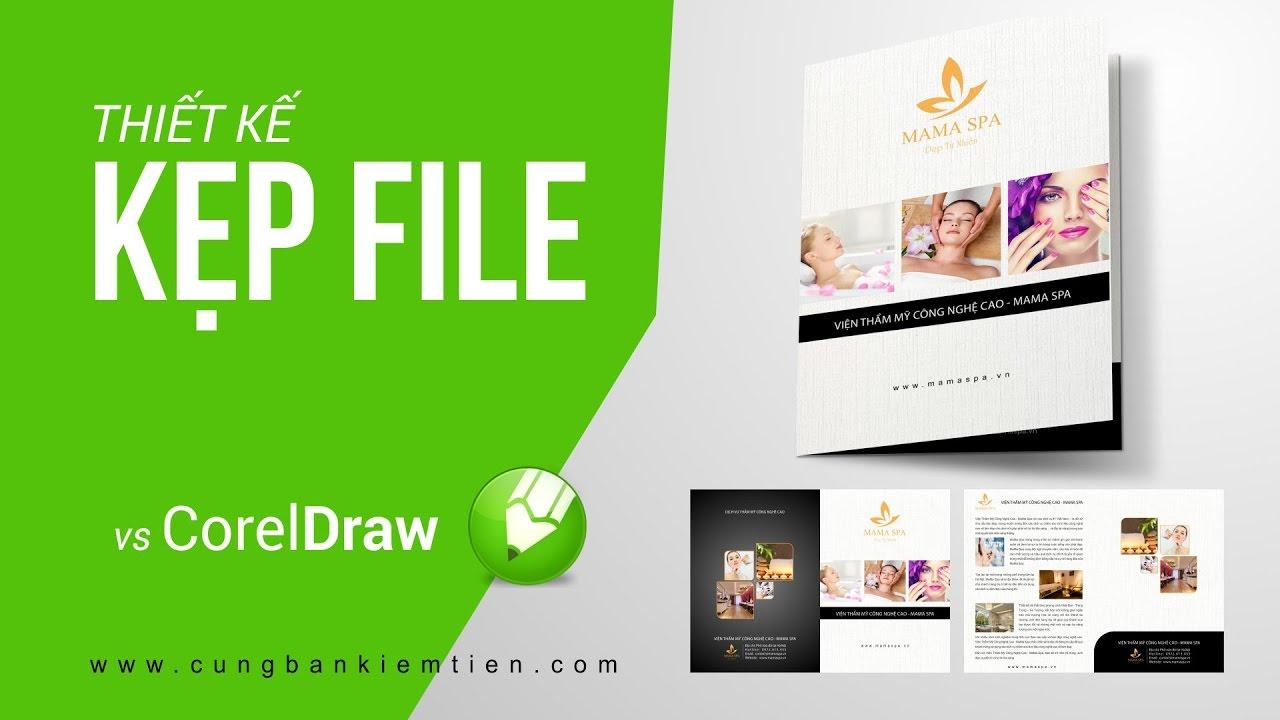 Hướng dẫn thiết kế Kẹp file,kẹp tài liệu với CorelDraw